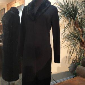 Evening dress overcoat